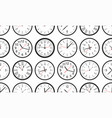 seamless pattern with white round wall clock vector image vector image