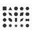 set different shape geometric icon isolated vector image