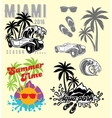 set emblems and design elements for templates vector image