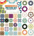 Set of vintage geometric patterns for backgrounds vector image