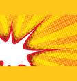 sharp bubble comic cloud in pop art yellow vector image vector image