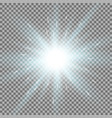 shining star on transparent background aqua color vector image vector image