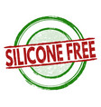silicone free stamp vector image vector image