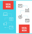 social media marketing web banners templates vector image vector image