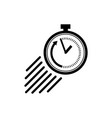 stopwatch icon in flat style symbol of speed vector image