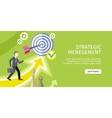 Strategic Management Concept vector image vector image