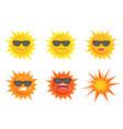 sun summer concept vector image vector image