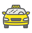 taxi car filled outline icon transport and auto vector image vector image