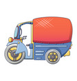 thai tuk tuk icon cartoon style vector image