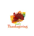 thanksgiving turkey card background vector image