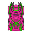 tiki idol mask vector image