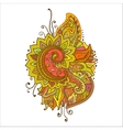 Traditional oriental floral ornament with a vector image vector image