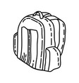 travel bag icon doodle hand drawn or outline icon vector image
