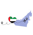 travel to uae airplane vector image vector image