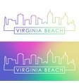 virginia beach skyline colorful linear style vector image vector image