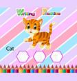 worksheet writing practice alphabet c for cat