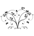 Openwork heart from a flower pattern vector image