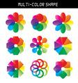 - Color flower wheel vector image