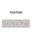 a crowd people on a white background business vector image