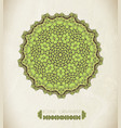 abstract green mandal vector image