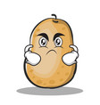 angry potato character cartoon style vector image vector image