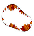 autumn leaves beautiful background or frame with vector image