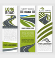 banners for road travel technology company vector image vector image