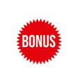 bonus circular star icon isolated sticker badge vector image vector image