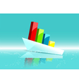 business ship as graph vector image vector image