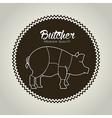 butcher menu vector image vector image