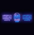 car wash neon sign car wash logo vector image