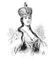 catherine ii russia vintage vector image vector image