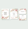 cherry blossom flower wedding invitation card vector image