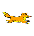 comic cartoon running fox vector image