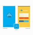 company cloud circuit splash screen and login vector image vector image