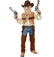 Cowboy ready for shootout vector image vector image