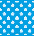 cup cake pattern seamless blue vector image vector image