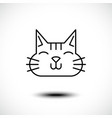 cute cat line icon vector image vector image