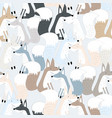 cute fox seamless pattern vector image