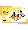delivery isometric concept logistic and shipping vector image vector image