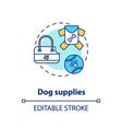 dog supplies concept icon vector image