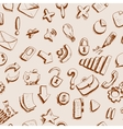 Doodle internet icons seamless background vector image vector image