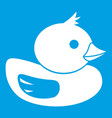 duck icon white vector image vector image