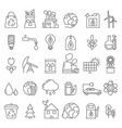 eco symbols in mono line style industrial and vector image vector image