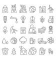 eco symbols in mono line style industrial vector image