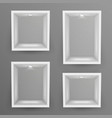 empty show window niche set abstract vector image vector image