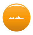 equalizer icon orange vector image