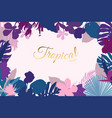 exotic flowers leaves greenery border frame vector image vector image