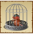 Fabulous wild animal in a steel cage in captivity vector image