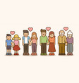 family love people holding hands vector image vector image